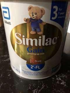 Similar gain growing up milk powder