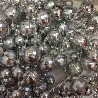 Christmas Xmas decoration chain Silver
