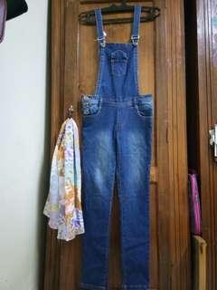 Jeans Denim Over all (Sale)