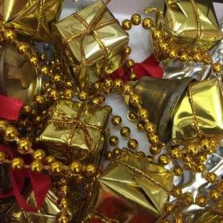 Christmas Xmas decoration chain Gold gifts 🎁