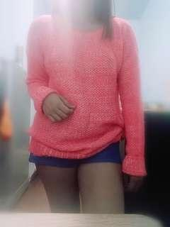 SO Pink Knitted Pullover