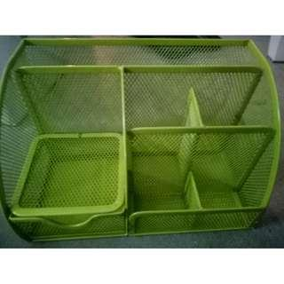 -1465- Green Metal Organizer Case