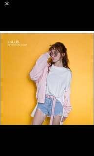 🚚 Lulus全新粉色飛行外套