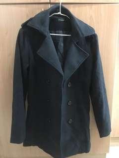 🚚 全新黑色長版大衣