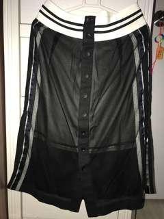 黑色夏季花邊半身裙