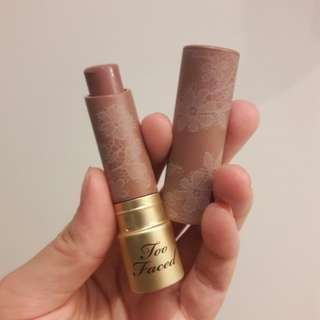 Too Faced Natural Nudes Coconut Butter Lipstick Shade Overexposed