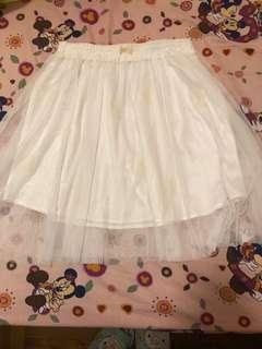 白色蝴蝶結紗裙
