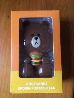 LINE FRIENDS Brown 熊大 風扇仔