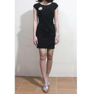 KARIMADON Cocktail Dress (w/ FREE Matching Silver Shoes, Brooch & Fancy Bracelet)