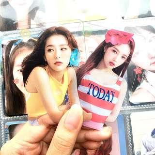 wts red velvet summer magic limited edition clear photocard