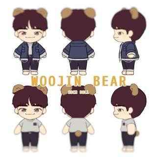 [INTEREST CHECK/GO] Stray Kids Woojin Bear 20cm Doll by DOLL_WOOJINBEAR