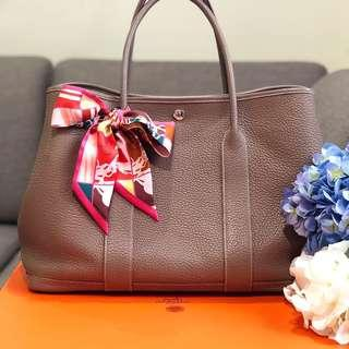 ⚡️Superb Deal!⚡️ Hermes Garden Party 36 in Etoupe Negonda Leather PHW