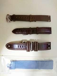 Assorted Watch Straps *ONLY LEFT 22MM PERLON STRAP*