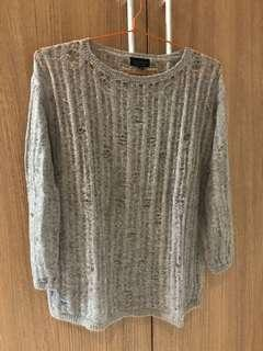 Topshop grey knitted outer sweater