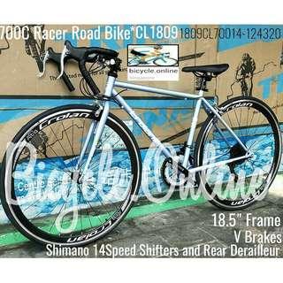 700C Road Bike *CROLAN 2018 Racer model ☆ Shimano 14 Speeds, V Brakes ✩ Brand New Bicycle