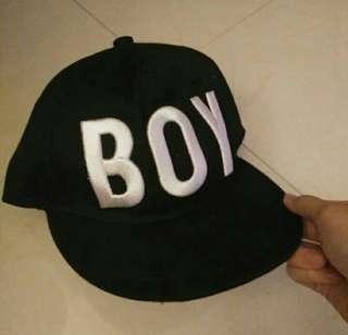 BOY GIRL黑色鴨舌帽