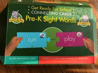 Pre K sight word connecting words