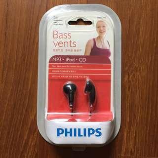 Philips earphones - bass vents