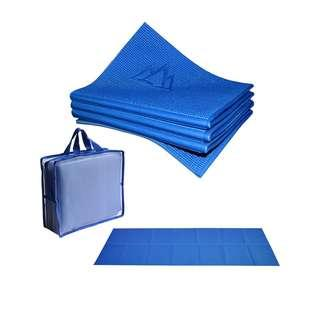 🚚 Khataland YoFoMat - Best Travel Yoga Mat, Foldable, with Travel Bag, Extra Long 72-Inch, Free From Phthalates & Latex
