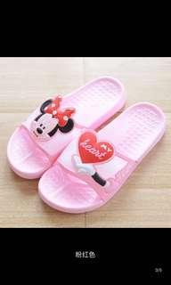 🚚 迪士尼可愛透氣防滑拖鞋24cm粉色