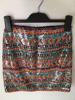 Sass sequin skirt
