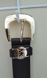 Authentic Michael Kors leather belt