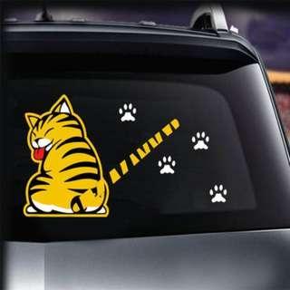 🚚 Car Decoration Cat Moving Tail Window Wiper Sticker / Rear Windshield Stickers
