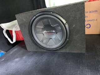 Pioneer subwoofer and 4 channel amp
