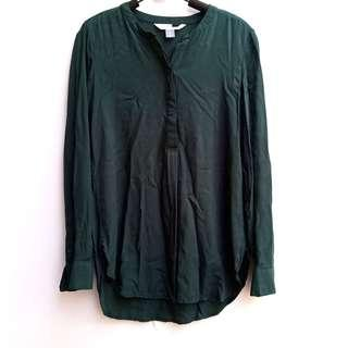 Dark Green Loose Shirt