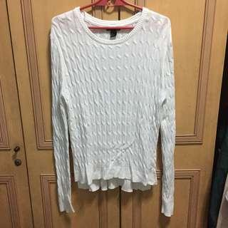 H&M white knit pullover