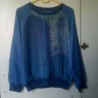 Blue Chile Map Mesh Pullover