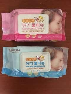 Baby Wipes Hand Mouth 100 Wipes
