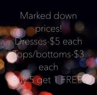 Women's clothes clearance!