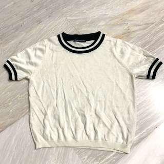 🌟Bnwot white knit TOP brandy Melville