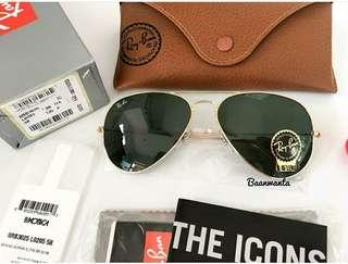 Ray Ban Sunglasses 金框墨綠鏡