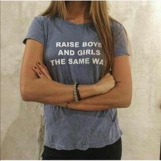 🌟bnwt raise boys and girls the same way Margie TOP brandy Melville