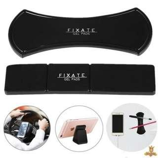FIXATE GEL PAD Super powerful fixate gel pad strong stick glue anywhere reusable washable amazing nano rubber pad universal sticker multi function mobile phone holder car holder stand bracket pad