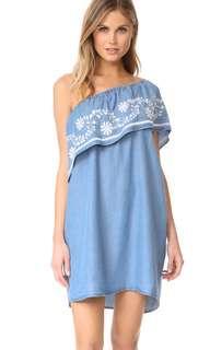Rebecca Minkoff Rita連衣裙 清新刺繡牛仔洋裝