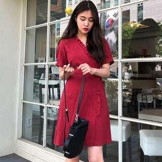 Malibu Ruffle Short Sleeve Dress