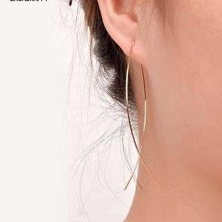 Earrings fish thin wire minimalist korean h&m forever 21 inspired