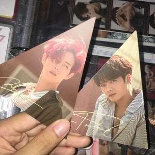 wts got7 7 for 7 triangle cards