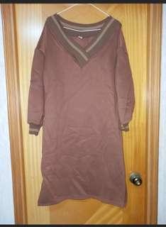 寬鬆長衛衣 長身裙
