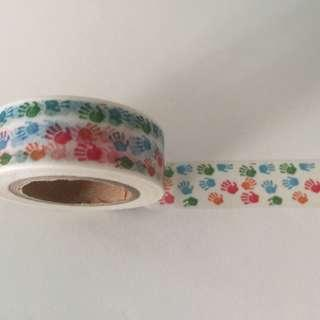Colourful Hand Prints GJ1044 Washi Tape 15mm x 10m