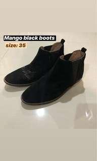 Mango black boots for kids