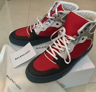 Balenciaga Leather High Top Sneakers Speed Trainer Triple S