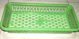Green Plastic Storage Basket