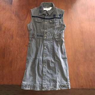 MOSSIMO jean sleeveless dress