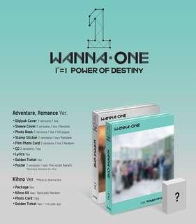 (LAST GROUP ORDER) WANNA ONE POWER OF DESTINY