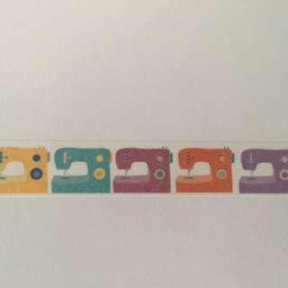 Colourful Sewing Machines GJ1045 Washi Tape 15mm x 10m