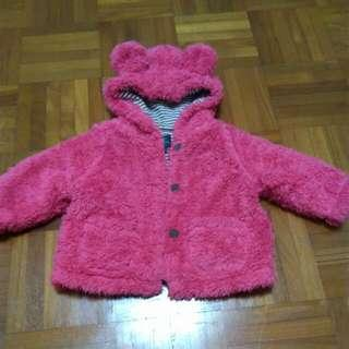 Mini Boden Girls Pink Winter Coat Jacket